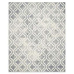 Safavieh Dip Dye Double Trellis 8-Foot x 10-Foot Area Rug in Grey/Ivory