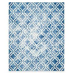 Safavieh Dip Dye Double Trellis 8-Foot x 10-Foot Area Rug in Blue/Ivory