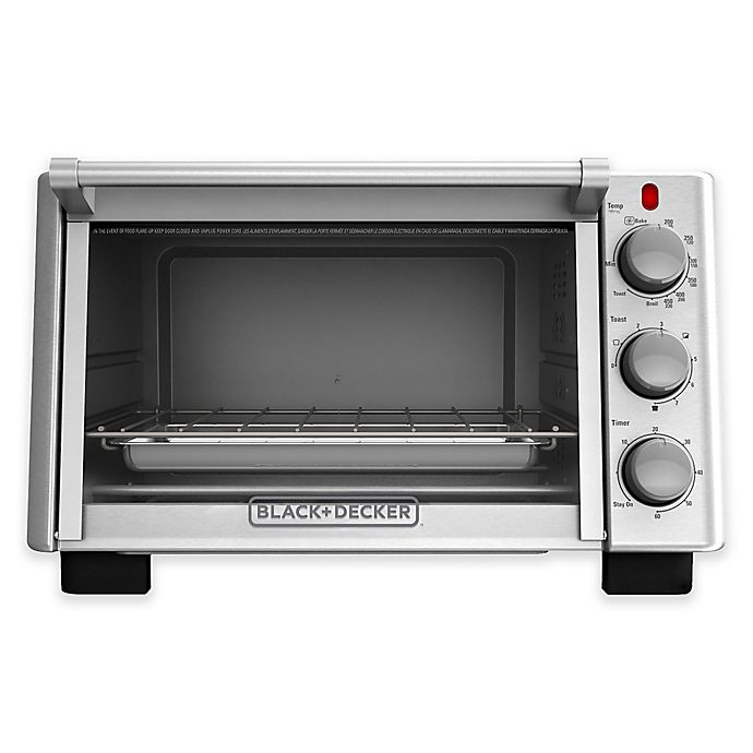 Alternate image 1 for Black + Decker™ 6-Slice Convection Toaster Oven
