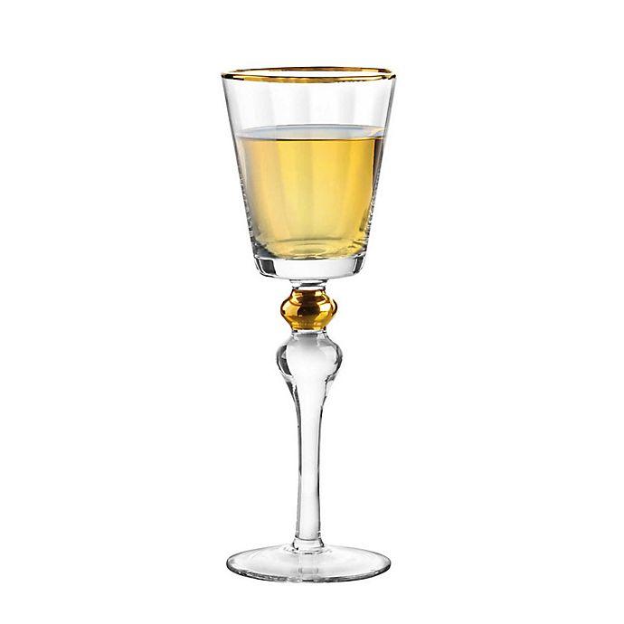 Alternate image 1 for Qualia Dominion Wine Glasses in Gold (Set of 4)