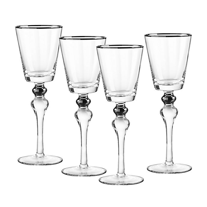 Alternate image 1 for Qualia Dominion Wine Glasses in Platinum (Set of 4)