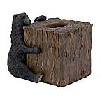 Avanti Black Bear Lodge Boutique Tissue Box Cover