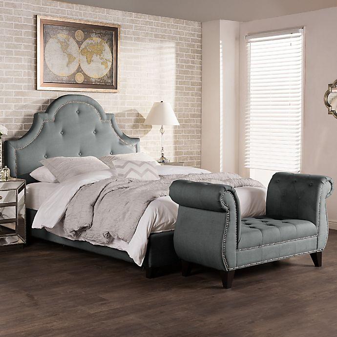 Baxton Studio Colchester Upholstered King Platform Bed And
