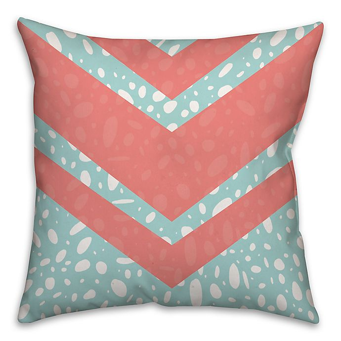 Alternate image 1 for Coral Dalmatian 16-Inch Square Throw Pillow in Pink/Blue
