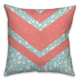 Coral Dalmatian 16-Inch Square Throw Pillow in Pink/Blue