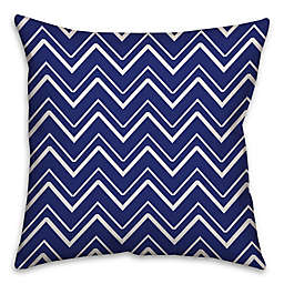 Chevron Stripe Throw Pillow in Royal Blue