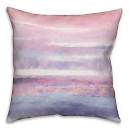 Watercolor Stripes 16-Inch Square Throw Pillow in Pink