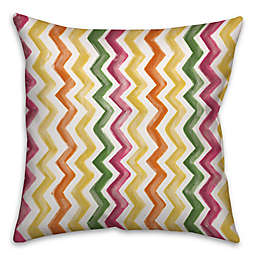 Watercolor Zigzag 18-Inch Square Throw Pillow