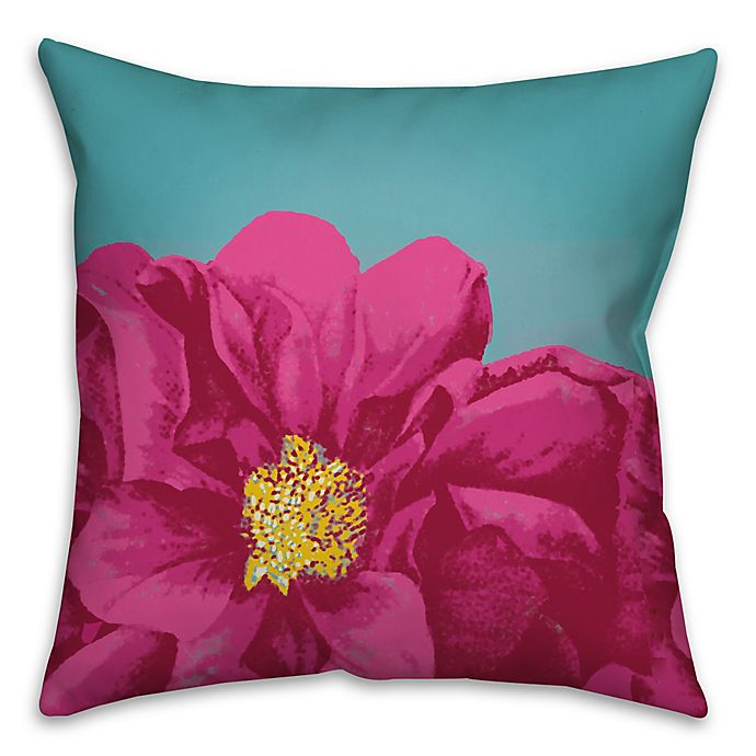 Alternate image 1 for Luscious Bloom 16-Inch Square Throw Pillow