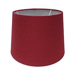 Adesso® Paris 10-Inch Textured Fabric Drum Lamp Shade in Red