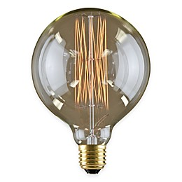 Lumin by Luminance Nostalgia Era 6-Pack 60-Watt 6-Inch Incandescent G40 Globe Bulb in Amber