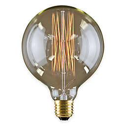 Lumin by Luminance Nostalgia Era 6-Pack 60-Watt 6-Inch Incandescent G40 Globe Bulb in Amber