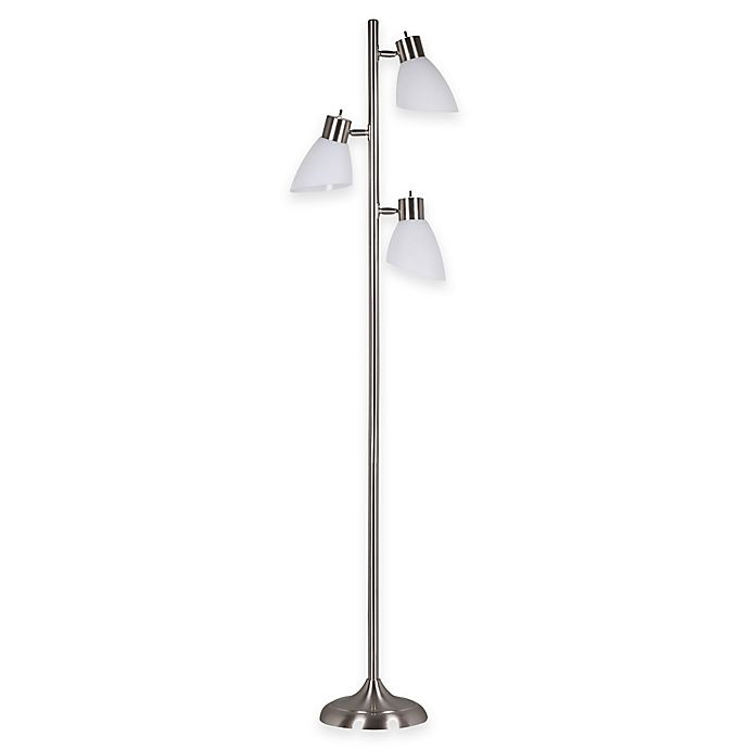 Alternate image 1 for Adesso® Brooke 3-Light Tree Floor Lamp in Brushed Steel