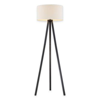 Adesso 174 Anderson Tripod Floor Lamp In Black Wood Grain