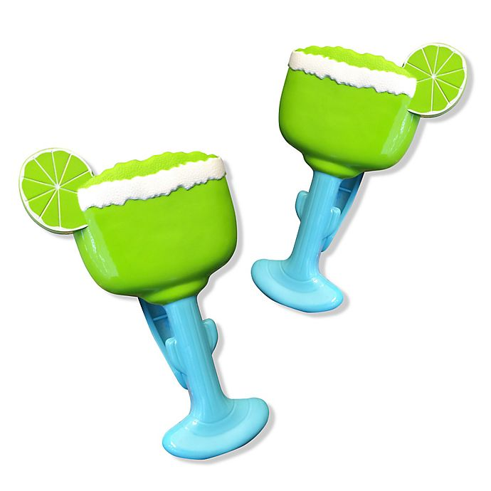 Alternate image 1 for Margarita Glass Boca Clips® (Set of 2)