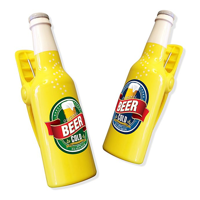 Alternate image 1 for Beer Bottle Boca Clips® (Set of 2)