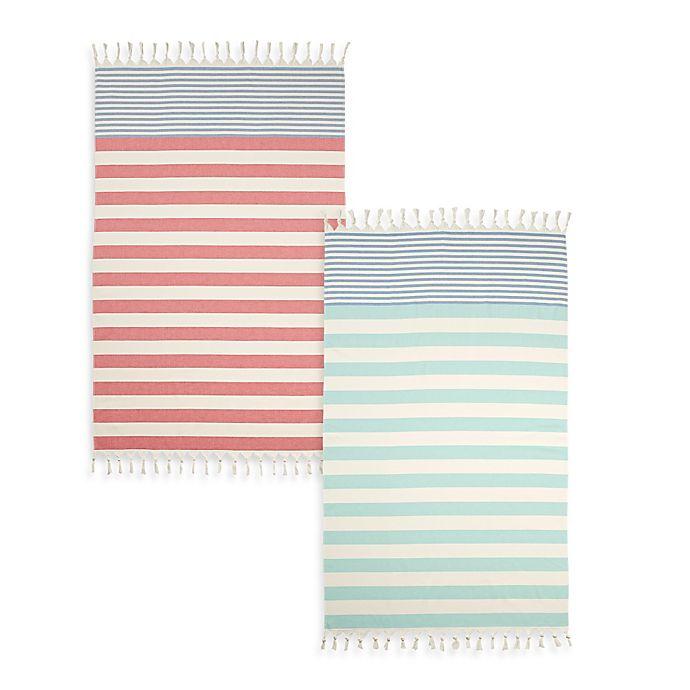Alternate image 1 for Cabana Stripe Turkish Cotton Beach Towel