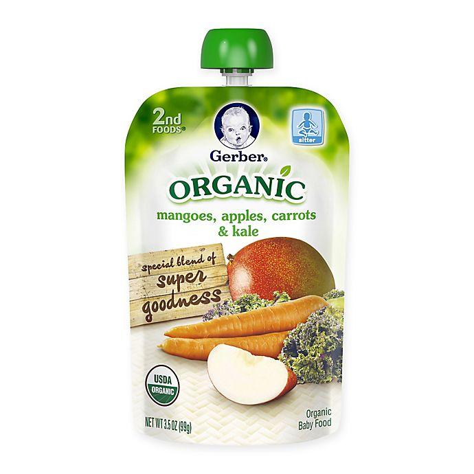 Alternate image 1 for Gerber® 2nd Foods® Organic 3.5 oz. Mangoes, Apples, Carrots and Kale