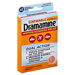 Dramamine® 4-Count Chewable Motion Sickness Relief Tablets