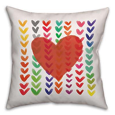 Wild Hearts Throw Pillows