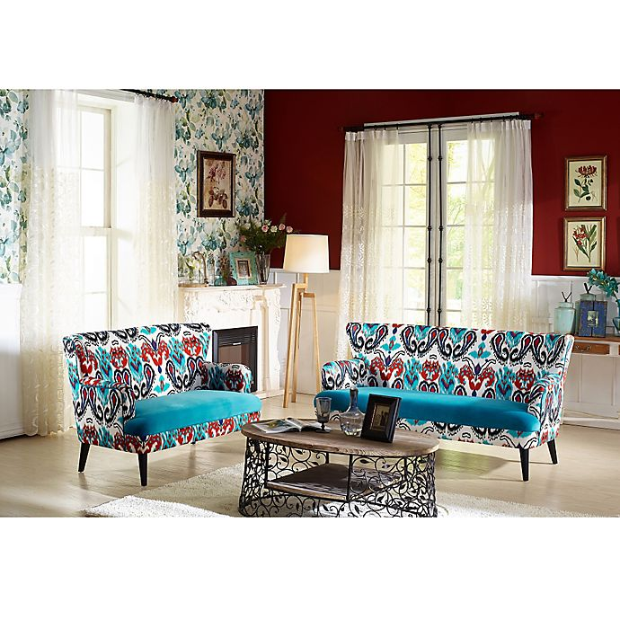 Surprising Baxton Studio Lacey Sofa And Loveseat Collection In Blue Ibusinesslaw Wood Chair Design Ideas Ibusinesslaworg
