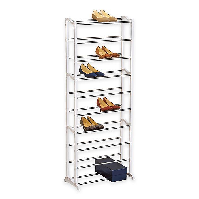 Alternate image 1 for 30 Pair White Shoe Rack