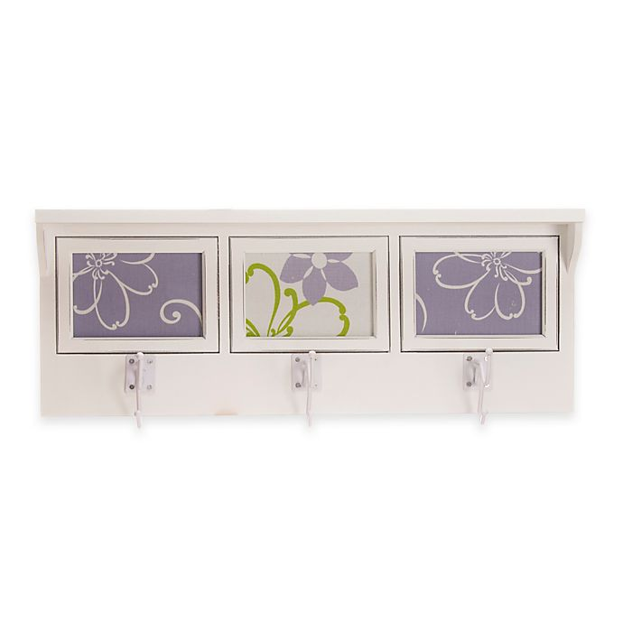 Alternate image 1 for Glenna Jean Lulu 3-Opening Photo Hanger Shelf in White