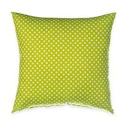 Glenna Jean Blossom Polka Dot Throw Pillow in Green