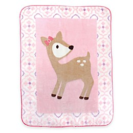 BabyVision® Luvable Friends® High Pile Deer Plush Blanket in Pink