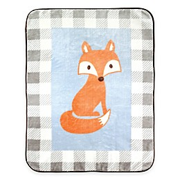 BabyVision® Luvable Friends® High Pile Fox Plush Blanket in Blue
