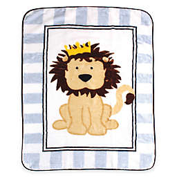 BabyVision® Luvable Friends® High Pile Lion Plush Blanket in Blue