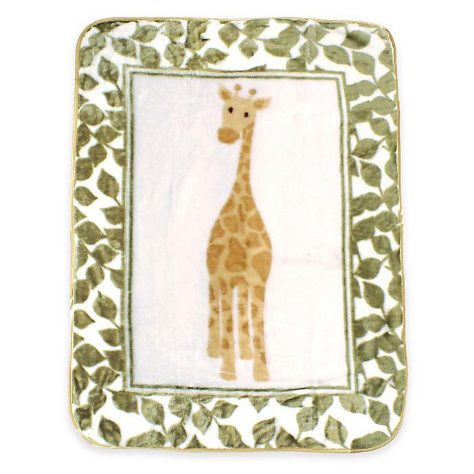 Alternate image 1 for BabyVision® Luvable Friends® High Pile Balloon Giraffe Plush Blanket