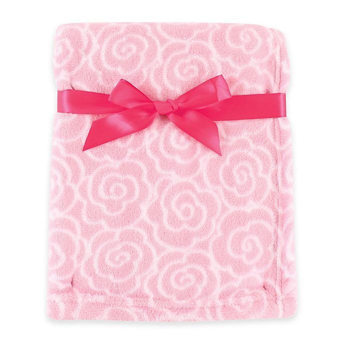 Alternate image 1 for BabyVision® Luvable Friends® Rose Coral Fleece Blanket in Pink