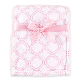 BabyVision® Luvable Friends® Lattice Coral Fleece Blanket in Pink