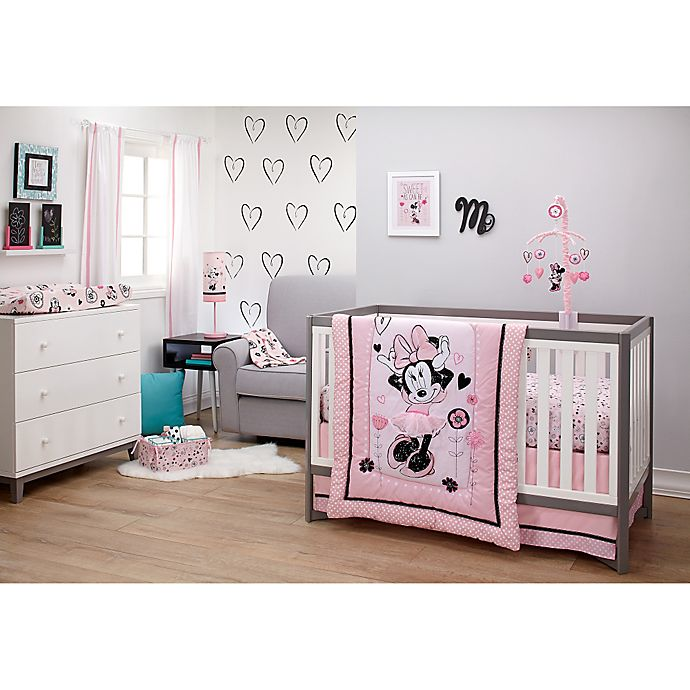View A Larger Version Of This Product Image Click To Zoom Alternate 1 For Disney Minnie Mouse Hello Gorgeous Crib Bedding Collection