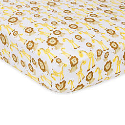 MiracleWare Giraffes and Lions Muslin Crib Sheet