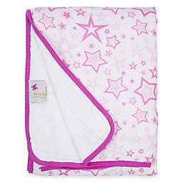 MiracleWare Pink Stars Muslin Serenity Blanket