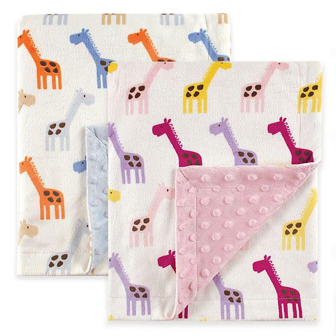 Alternate image 1 for BabyVision® Hudson Baby® Giraffe Mink Blanket