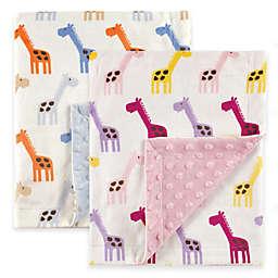 BabyVision® Hudson Baby® Giraffe Mink Blanket