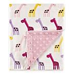 BabyVision® Hudson Baby® Giraffe Mink Blanket in Pink