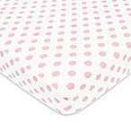 TL Care® Cotton Flannel Polka Dot Fitted Crib Sheet in Pink