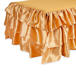 Tadpoles™ by Sleeping Partners 3-Tier Ruffled Satin Twin Bed Skirt
