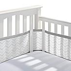 BreathableBaby® Breathable Mesh  Chevron Crib Liner in Grey