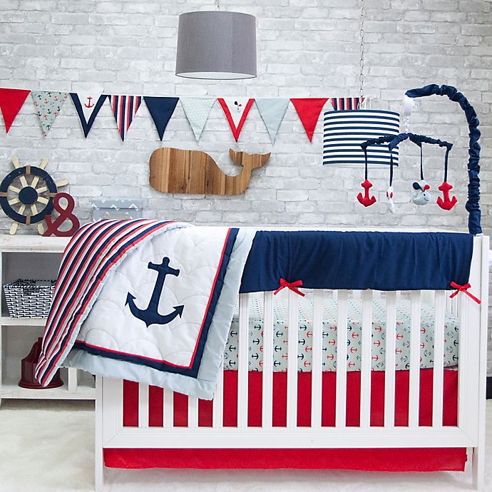 Alternate image 1 for Pam Grace Creations Anchors Away 6-Piece Crib Bedding Set