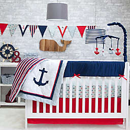 Pam Grace Creations Anchors Away 6-Piece Crib Bedding Set