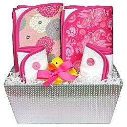 6-Piece Bath Set in Hot Pink