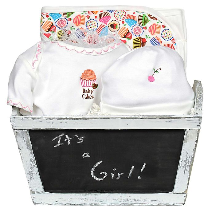 Alternate image 1 for Baby Cakes 4-Piece Gift Set for Baby Girls