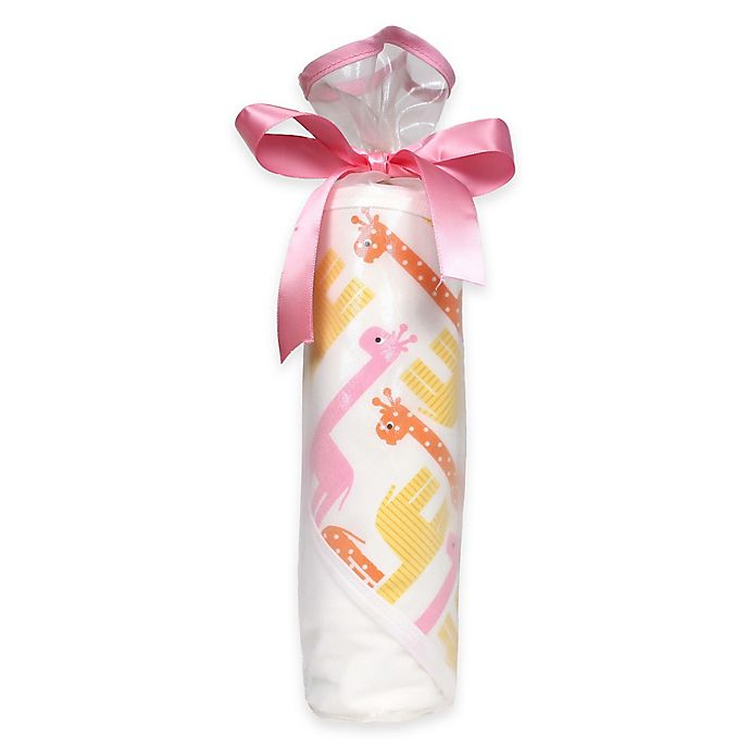 Alternate image 1 for 2-Piece Chevron Hooded Blanket Gift Set in Pink