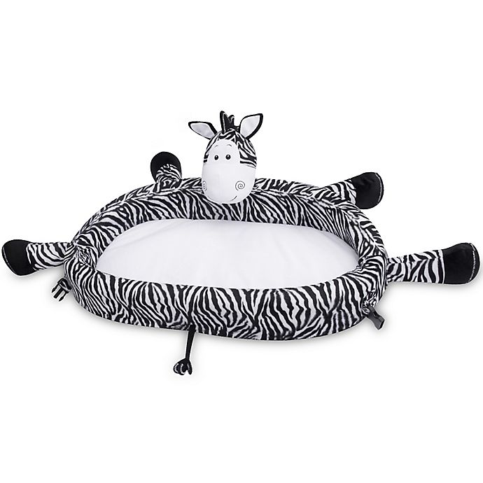 Alternate image 1 for Lulyboo® Lulyzoo Zebra Toddler Lounge Play Mat