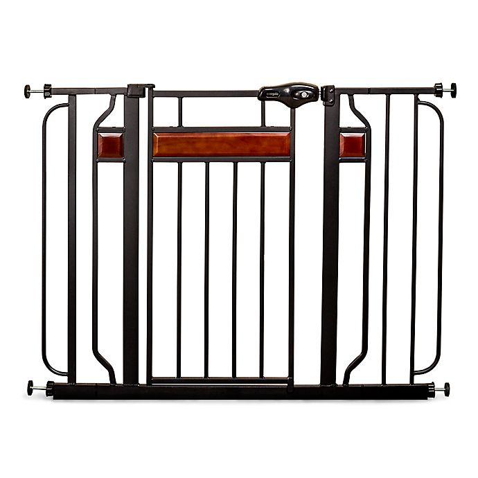 Alternate image 1 for Regalo® Home Accents Walk-Through Gate in Black